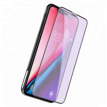 5D Full Cover Nano Anti-Shock Glass Screen Protector Apple iPhone XR / 5D извит скрийн протектор за Apple iPhone XR - черен