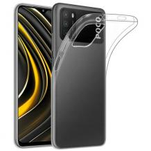 Силиконов калъф / гръб / TPU за Xiaomi Poco M3 - прозрачен