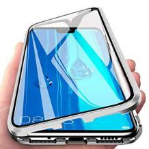 Магнитен калъф Bumper Case 360° FULL за Samsung Galaxy Note 10 Plus N975 - прозрачен / сребриста рамка