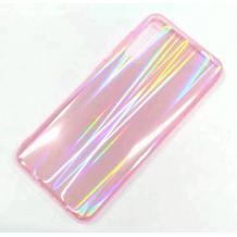 Луксозен твърд гръб Aurora за Samsung Galaxy A50 - прозрачен / розов / холограма