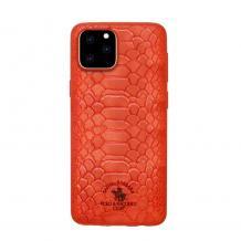 """Луксозен твърд гръб със силиконова кант за Apple iPhone 11 Pro Max 6.5"""" - Santa Barbara Polo Club / Red Snake"""