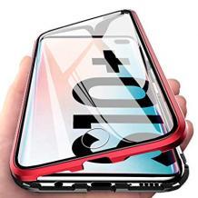 Магнитен калъф Bumper Case 360° FULL за Samsung Galaxy S10 Plus - прозрачен / черен рамка