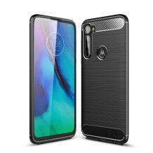 Силиконов калъф / гръб / TPU за Motorola One Fusion Plus - черен / carbon