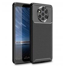 Луксозен силиконов калъф / гръб / TPU Auto Focus за Nokia 9 Pure View - черен / Carbon