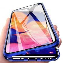 Магнитен калъф Bumper Case 360° FULL за Samsung Galaxy Note 10 Plus N975 - прозрачен / синя рамка