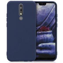 Силиконов калъф / гръб / TPU за Nokia 3.1 Plus - тъмно син / мат