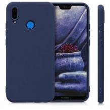 Силиконов калъф / гръб / TPU за Huawei P Smart Z - син / мат