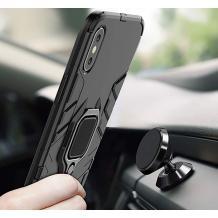 Удароустойчив гръб със стойка и магнитно захващане за Samsung Galaxy A21s – черен