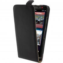 Кожен калъф Flip тефтер за BlackBerry Aristo Z30 - черен