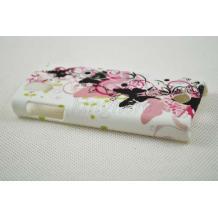 Заден предпазен твърд гръб за Sony Ericsson Xperia Ray / ST18i - бял с пеперуди