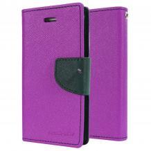 Кожен калъф Flip тефтер Mercury GOOSPERY Fancy Diary със стойка за Microsoft Lumia 550 - лилав