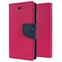 Кожен калъф Flip тефтер Mercury GOOSPERY Fancy Diary със стойка за Microsoft Lumia 550 - цикламен