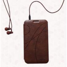 Луксозни стерео слушалки KALAIDENG Teanan KE-200 3,5 mm за Samsung, HTC, Nokia, Sony Xperia, Iphone - кафяви
