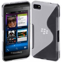 Силиконов калъф / гръб / TPU S-Line за BlackBerry Z10 - прозрачен