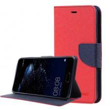 Кожен калъф Flip тефтер със стойка MERCURY Fancy Diary за Samsung Galaxy A20e - червен