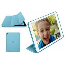 Кожен калъф / Smart Cover / със стойка за Apple iPad 5 AIR / iPad Air - син