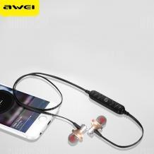 Стерео Bluetooth / Wireless слушалки AWEI A860BL /sport/ - златисти