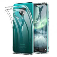 Ултра тънък силиконов калъф / гръб / TPU Ultra Thin за Nokia 6.2 - прозрачен
