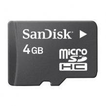 MicroSDHC карта / 4GB / SANDISK CLASS 4