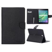 "Кожен калъф Flip тефтер Mercury GOOSPERY Fancy Diary със стойка за Samsung Galaxy Tab S2 8.0"" T710 / T715 - черен"