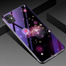 Луксозен стъклен твърд гръб със силиконов кант за Apple iPhone 11 Pro 5.8 - цветя и кръгове