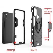 Удароустойчив гръб със стойка и магнитно захващане за Samsung Galaxy A71 – черен