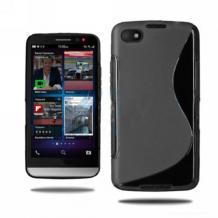 Силиконов калъф / гръб / TPU S-Line за BlackBerry Aristo Z30 - черенСиликонов калъф / гръб / TPU S-Line за BlackBerry Aristo Z30 - черен