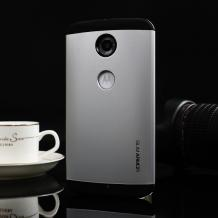 Tвърд гръб SGP Spigen SLIM ARMOR за Motorola Nexus 6 - сребрист