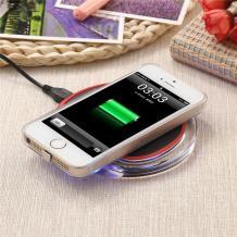 Универсално зарядно за безжично захранване / Fantasy Wireless Charger Pad Qi Standard - черно с червено