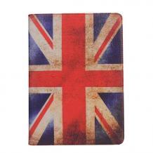 Кожен калъф за таблет със стойка за Apple iPad Air 6 - Retro British Flag