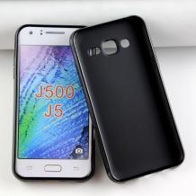 Силиконов калъф / гръб / ТПУ X Line за Samsung J500 Galaxy J5 - черен