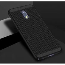 Луксозен твърд гръб за Nokia 5.1 2018 - черен / Grid