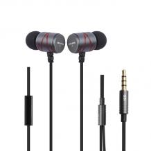Оригинални стерео слушалки AWEI Q5i / handsfree / 3.5mm за смартфон - Графит
