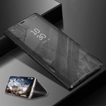 Луксозен калъф Clear View Cover с твърд гръб за Samsung Galaxy A20e - черен