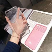 Силиконов калъф / гръб / TPU Bling за Samsung Galaxy S8 Plus G955 - прозрачен / брокат
