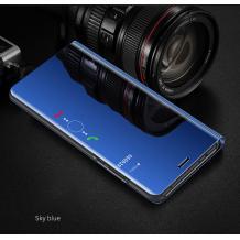 Луксозен калъф Clear View Cover с твърд гръб за Xiaomi Redmi Note 8 Pro - син
