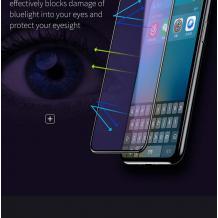 3D full cover Tempered Glass Screen Protector Baseus Anti-blue light Apple iPhone X / Извит стъклен скрийн протектор Baseus Anti-blue light за Apple iPhone X - черен