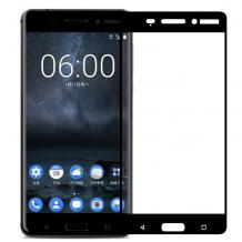 3D full cover Tempered glass Full Glue screen protector Nokia 3.1 Plus 2018 / Извит стъклен скрийн протектор с лепило от вътрешната страна за Nokia 3.1 Plus 2018 - черен