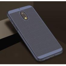 Луксозен твърд гръб за Nokia 5.1 2018 - тъмно син / Grid
