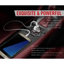 Универсално зарядно за кола LDNIO C304Q Car Charger 5V / Micro USB за Samsung, Lenovo, LG, HTC, Sony, Nokia, Huawei, ZTE, BlackBerry, Xiaomi и др. - тъмно червен
