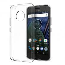 Ултра тънък силиконов калъф / гръб / TPU Ultra Thin за Motorola Moto G⁵ Plus - прозрачен