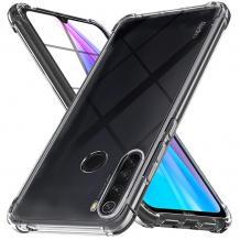 Удароустойчив силиконов калъф за Motorola One Macro - прозрачен