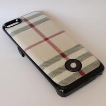 Заден твърд гръб / външна батерия / Battery power bank 2500mAh за Apple iPhone 5 / iPhone 5S - цветно каре
