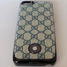 Заден твърд гръб / външна батерия / Battery power bank 2500mAh за Apple iPhone 5 / iPhone 5S - зелен с фигури