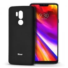 Луксозен силиконов калъф / гръб / TPU Roar All Day за LG G7 ThinQ - черен