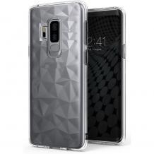 Луксозен силиконов калъф / гръб / TPU за LG G7 ThinQ - призма / прозрачен