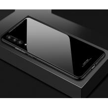 Луксозен стъклен твърд гръб за Xiaomi Mi 8 Pro - черен