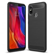 Силиконов калъф / гръб / TPU за Xiaomi Mi 8 - черен / carbon