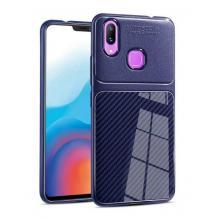 Луксозен силиконов калъф / гръб / TPU Auto Focus за Xiaomi Mi 8 - тъмно син / Carbon