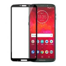 3D full cover Tempered glass screen protector Motorola Moto Z3 Play / Извит стъклен скрийн протектор за Motorola Moto Z3 Play - черен